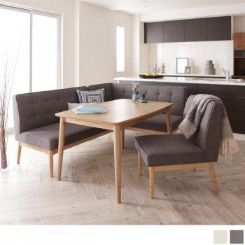 北欧ソファダイニングテーブルセットTIERYティエリー チェア4点セット(ダイニングテーブル+アームソファ+バックレストソファ+チェア)|人気の通販店Sotao