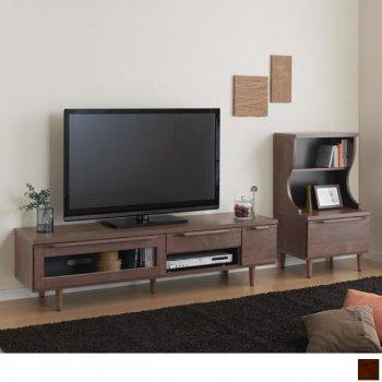 ウォールナット調リビング収納シリーズAldilaアルディラ 2点Bセット(テレビボード+キャビネット)|人気の通販店Sotao