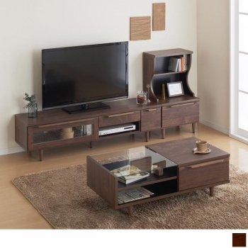 ウォールナット調リビング収納シリーズAldilaアルディラ 3点セット(テレビボード+テーブル+キャビネット)|人気の通販店Sotao