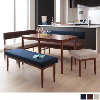 K-JOYケージョイ 5点セット(ダイニングテーブル+アームソファ+バックレストソファ+ベンチ+オットマン