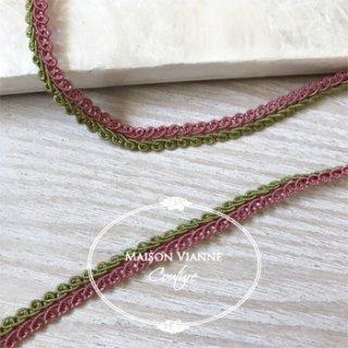 wカラー ブレード ピンク&グリーン 9�  1ロール(9m)