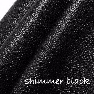 カルトナージュ用『シュリンク』         Leather 36×36�  Shimmer Black(シマーブラック)