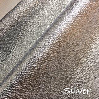 カルトナージュ用『シュリンク』         Leather 36×20�  Silver(シルバー)