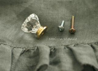 アクリル ノブ つまみ ダイヤ