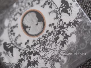 ペーパーナプキン カメオ ブラック&ホワイト