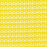 STINA(くま)  02 YELLOW  ラミネートカットクロス 110×50cm