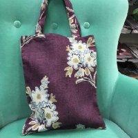 リナシータ ブックバッグ 花柄紫