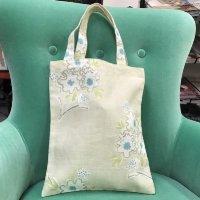 リナシータ ブックバッグ 花柄ライトグレー