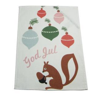 CHRISTMAS towel God Jul Squirrel