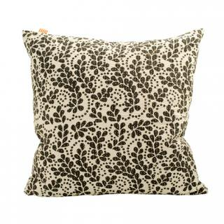 CUSHION COVER PLANT 50×50� (Black/offwhite)
