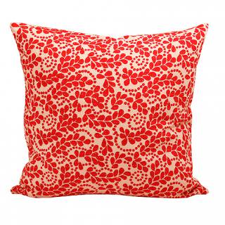 CUSHION COVER PLANT 50×50� (Red/offwhite)