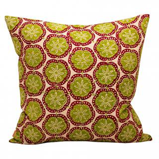 CUSHION COVER DARLIA 50×50� (Green/pink)