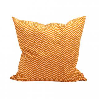 CUSHION COVER HILL 50×50� (Mustard/offwhite)