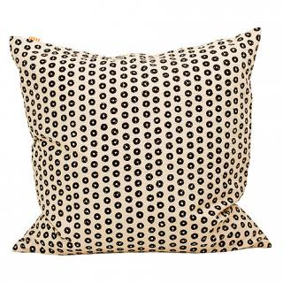 CUSHION COVER RING 50×50� (Black/offwhite)