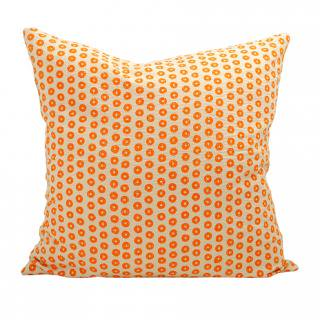 CUSHION COVER RING 50×50� (Orange/offwhite)