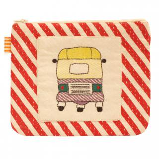 PURSE RICKSHAW STRIPE 16×20� (Red)