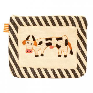 PURSE COW STRIPE 16×20� (Black)