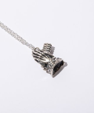SILVER NECKLACE -Pray with the microphone-