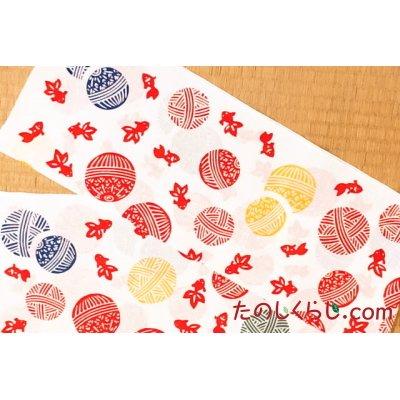 手拭い 手まり金魚 (てぬぐい てまりきんぎょ)