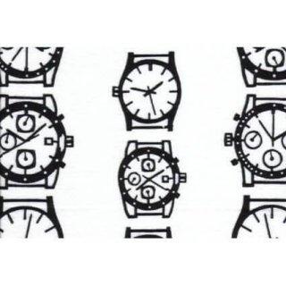 大判晒ハンカチ 時計 (おおばんさらしはんかち とけい)