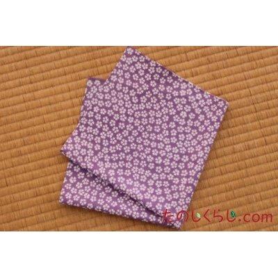 大判晒ハンカチ 撫子(うす紫) (おおばんさらしはんかち なでしこ)