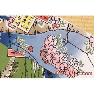 手拭い 隅田川水神の森真崎 (てぬぐい すみだがわすいじんのもりまさき)
