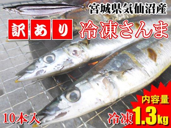 【訳あり品】冷凍さんま 10本セット ※1.3kg【キズ有】
