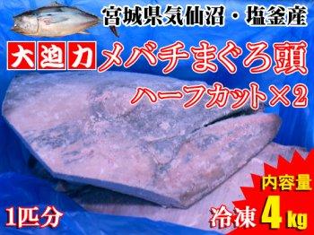 【冷凍品】マグロの頭ハーフカット×2 ※3kg以上×2