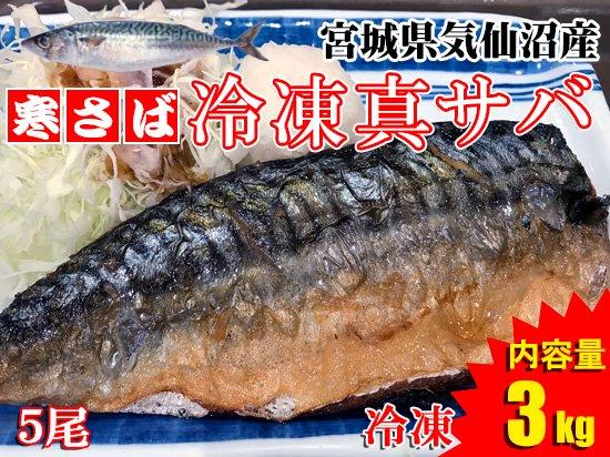 【冬の味覚を1年中!】気仙沼産冷凍真サバ ※5尾/3kg
