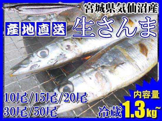 【2017秋物】気仙沼産生さんま ※税・送料込 【販売終了】