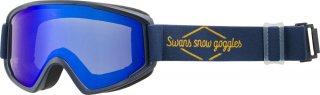 SWANS(スワンズ) 100-MDH ブルーミラー ダブルレンズ スノーゴーグル スキー スノーボード 大人用