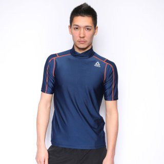 Reebok(リーボック) 428780 メンズ ラッシュガード 半袖ハイネック UVカット アクアシャツ スイムトップス