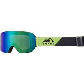 SWANS(スワンズ) 120-MDH スキー スノーボード スノーゴーグル フレームレス ダブルミラーレンズ