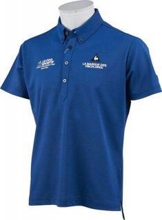 lecoq sportif(ルコック) QGMOJA00 メンズ シャンブレーベア鹿の子半袖シャツ ゴルフウェア ポロシャツ