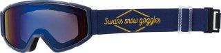 SWANS(スワンズ) 140-MDH ジュニア ミラー ダブルレンズ スノーゴーグル スキー スノーボード 子供用