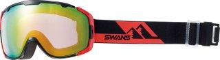 SWANS(スワンズ) 150-MDHS 成形球面ミラー ダブルレンズ セミフレームレススノーゴーグル スキー スノーボード 大人用