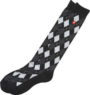 lecoq sportif(ルコック) QGBOJB05 メンズ ダイナホットダイヤ柄ソックス ゴルフソックス 靴下 25-27cm