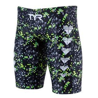 TYR(ティア) JPIXL-19F メンズ 競泳トレーニング水着 スイムスパッツ ロングボクサー 男性用