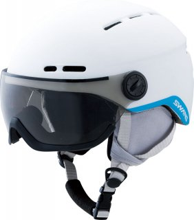 SWANS(スワンズ) H-80 VISOR レディース ジュニア向け バイザー付き ヘルメット スキー スノーボード