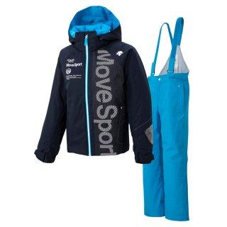 DESCENTE(デサント) DWJOJH91 ムーブスポーツ ジュニア スキースーツ スキーウェア上下セット 子供用