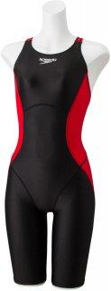 SPEEDO(スピード) SCW12001F フレックスアルファ レディース セミオープンバックニースキン 競泳水着 FINA承認