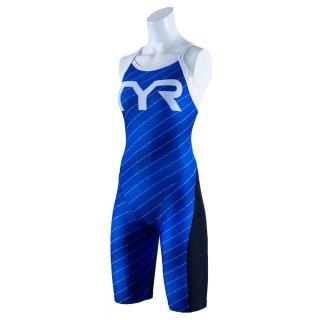 TYR(ティア) SRAIN-20S レディース 競泳トレーニング水着 ショートジョン スパッツスーツ TEAM CHEVRON