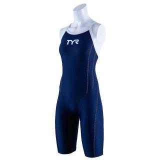 TYR(ティア) SSLID-20S レディース 競泳トレーニング水着 ショートジョン スパッツスーツ TEAM CHEVRON