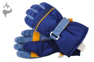 日栄産業 3670 キッズ 園児 5本指スキーグローブ スノーグローブ 手袋 子供用□BLU