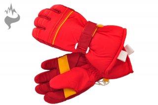日栄産業 3670 キッズ 園児 5本指スキーグローブ スノーグローブ 手袋 子供用□RED