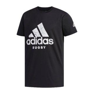 adidas(アディダス) GSV51 メンズ スポーツ ラグビーウェア 半袖Tシャツ Rugby Logo Tee