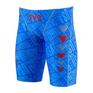 TYR(ティア) JCHEVJR-18M ジュニア ボーイズ ローライズ ロングボクサー 競泳トレーニング水着 練習用