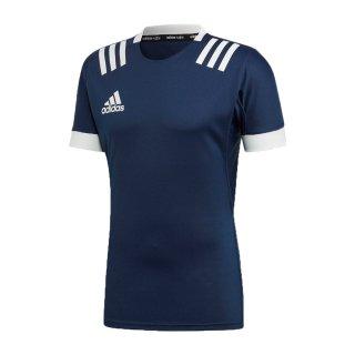 adidas(アディダス) FXU53 メンズ スポーツ ラグビーウェア 半袖Tシャツ ラグビー3ストライプジャージー