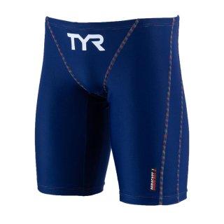 TYR(ティア) JSLIDJR-20S ジュニア ボーイズ ローライズ ロングボクサー 競泳トレーニング水着 練習用