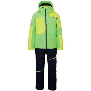 PHENIX(フェニックス) PS9G22P83 ジュニア スキーウェア ツーピース 子供 ボーイズ グレー マッシュ5 フラッシュグリーン
